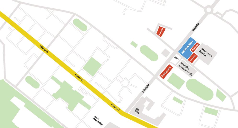mapa parkování
